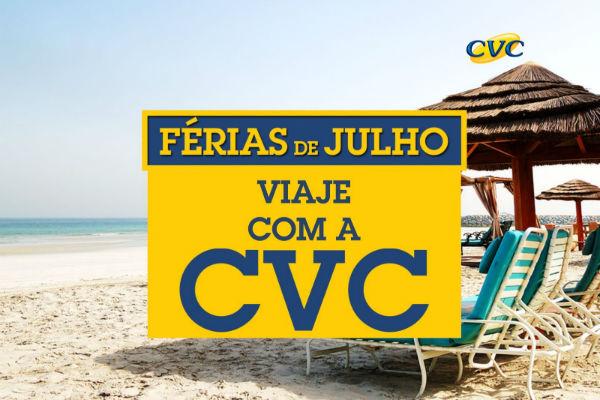 Férias de julho com pacotes CVC